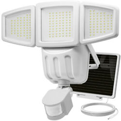 Waterproof Solar Light 182LED Outdoor Garden Yard Motion Sensor Wall Lamp White
