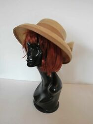 Phillip Rhodes Straw Hat With Large Bow AU $59.00