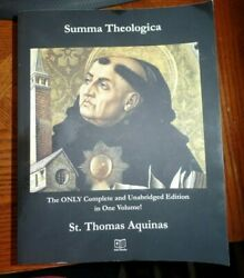 SUMMA THEOLOGICA: ONLY COMPLETE AND UNABRIDGED EDITION IN By St. Thomas  $99.99