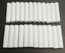 SET OF 24 4quot; TALL WHITE PLASTIC CANDELABRA SOCKET CHANDELIER COVERS 50256JQ $20.00