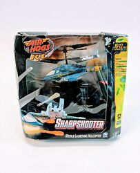 Air Hogs Sharp Shooter Helicoptero Sport Quad Missile Launcher Helicopter Blue $56.09