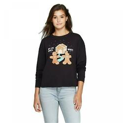 nWT Fifth Sun Women#x27;s Gingerbread Season#x27;s Eatings Long Sleeve T Shirt. VLIN3704 $10.50
