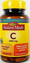 Nature Made Vitamin C 1000 mg 100 Tablets Expiration Date 06 2024 $16.99