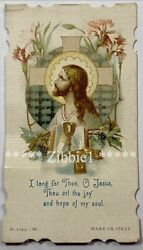 I Long For Thee O Jesus Vintage Die Cut Holy Devotional Card $5.75