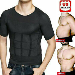 US The Ultra Durable Body Toning Shirt Torso Compression Shapewear Vest Tank Top $8.79