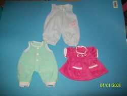 fits CABBAGE PATCH KIDS 3 outfits fits   pa newborn $14.99