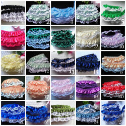 Ruffle Lace Trim 1quot; selling by the yard select color $1.59