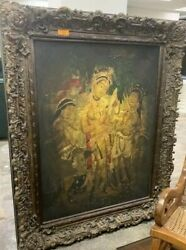 Nagasamy Ramachandran very large art piece beautiful frame included 60quot;X48quot; $1590.00