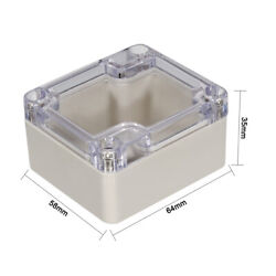 Waterproof Cover Clear Electronic Project DIY Box Enclosure Case 64X58X35mm $8.99