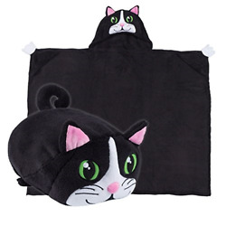 Comfy Critters Stuffed Animal Blanket – Cat – Kids Huggable Pillow and Blanket $47.13