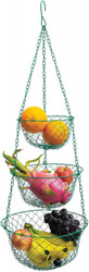 3 Tier Wire Hanging Kitchen Basket Fruit Vegetable Organizer Plant Storage Green $22.99