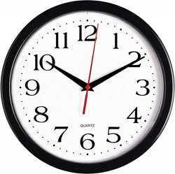 Large Wall Clock Silent Indoor Outdoor Battery Powered Analog Office Home School $14.99