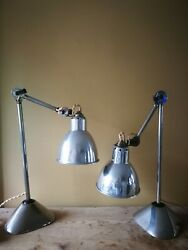 French pair of industrial desk lamp GRAS 1031 L'ajustable $2,990.00