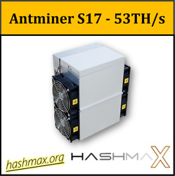 🔥 Antminer S17 53THs PSU included 👍 Best bitcoin miner ⛏