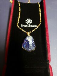 SHE SUBLIME SWAROVSKI BLUE STONE NECKLACE AUTHENTIC NEW WITH BOX