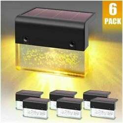 DenicMic Solar Deck Lights Led Solar Step Lights Outdoor for Stair Fence Pati