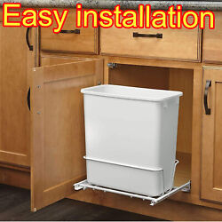 13 gal White Trash Can Kitchen Waste Bin Garbage Pull Out Under Counter 20 Quart $48.58