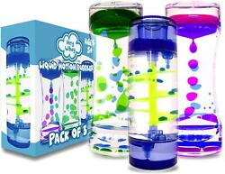 HeyWhey Liquid Motion Bubbler Timer- Ideal Sensory Toy for Kids and s 3-Pack C $24.99