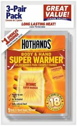 Hothands Body Warmer Up to 18 hr. Heating Time Activates By Contact with Air $10.99