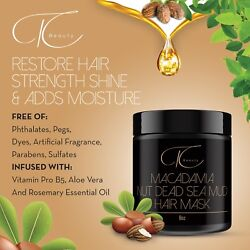 Hair Masque Mask Treatment Mineral Macadamia Nut Mud For Damaged Hair Restore $23.50