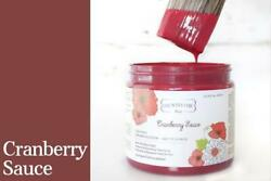 Country Chic Paint All In One Paint 4 16 32 oz Red Shades FREE Sponge $11.95