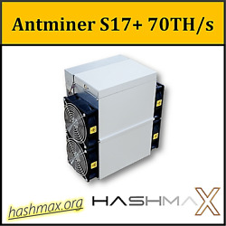 Antminer S17+ 70THs PSU included ASIC bitcoin BTC miner  $1,810.00