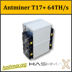 Antminer T17+ 58THs PSU included    Best bitcoin miner  $1,196.00