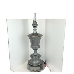 Mid Century Modern Stiffel Lamp Hollywood Regency Pewter Pineapple Well Crafted $150.00