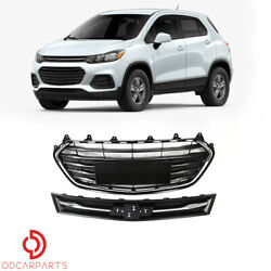 Fits Chevrolet Trax 2017 2018 2019 2020 Front Upper and Lower Grille Grill Set $149.00