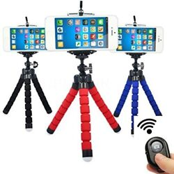 Flexible Smartphone Tripod Bluetooth Remote for Phones Cell Phone $9.59