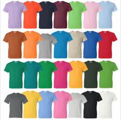 Gildan Cotton T Shirts 5.3oz Blank Solid Short Sleeve Tee S 2XL Style# 5000 $5.57