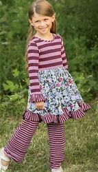 Matilda Jane WISE ONE Dress 6 Purple Stripes Floral Choose Your Own Path NWT $43.95