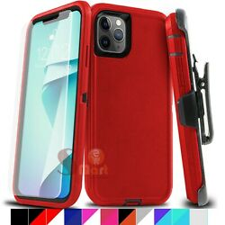 For iPhone 11 Pro Max Shockproof Case Cover With Belt Clip Fit Otterbox Defender $9.99