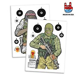 Tactical Shooting Targets Counter Terrorism 12 PACK 18x24 inch Made In USA $21.99