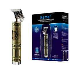 Kemei 1974a Metal Pro T-OUTLINER Cordless Trimmer Wireless Portable Hair Clipper $27.99