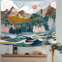Indusleaf Psychedelic Mountain Forest Tapestry Large Tapestry Wall Hanging for $12.99