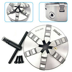 8 6-jaw 200mm Self-centering Lathe Chuck for CNC Lathes Grinding Machines SALE $251.96