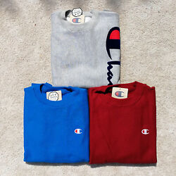 100% Authentic Men's Champion Reverse Weave Crew Sweatshirt Fleece $20.00