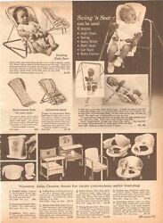 VINTAGE 1966 CATALOG BABY SEATS CHAIRS NURSERY AIDS PHOTO AD CLIPPING $12.99