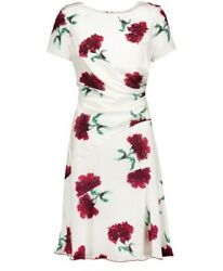 Oscar De La Renta Carnation Floral Dress US 10 UK 14