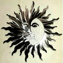 24 Inch Celestial New Sun FACE Polished Metal Wall Art modern Unique Decor $54.95