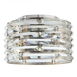 Avant 2-Light Curved Crystal and Chrome Flush Mount by  Decor Living $89.96