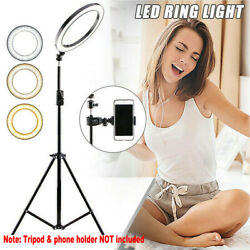 LED Ring Light Lamp Selfie Camera Phone Studio Stand Photo Video Dimmable $11.99
