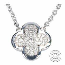 Vancleef Arpels Van Cleef K18Wg Pure Alhambra Pendant Necklace White Gold Women