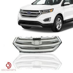 Fits 2015 2016 2017 2018 Ford Edge Front Upper Grille Grill Silver Chrome $82.00