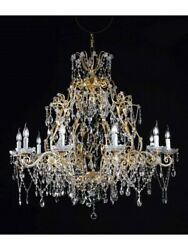 Chandelier Classic IN Leaf Gold And Crystal Tp CLASSICA-116-PERL-LA-10+1-05