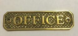 Vintage Solid Brass Office Wall Sign Decor Plaque 4.75 inches plate Name Door $12.00