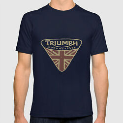 Lucky Brand Triumph Motorcycle UK T-shirt Funny Vintage Gift Men Women $12.30
