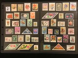 EXOTIC FLOWERS amp; PLANTS ON STAMPS TOPIC Stamp Collection FREE SHIPPING LOT 2 $10.00