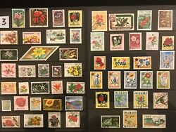 EXOTIC FLOWERS amp; PLANTS ON STAMPS TOPIC Stamp Collection FREE SHIPPING LOT 3 $10.00